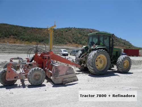 imagen - maquinaria - tractor 7800 con refinadora